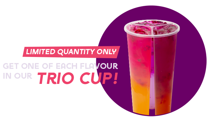 Get one of each flavour in our Trio Cup!